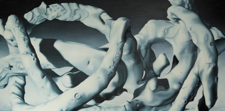 sans titre, 2012huile sur toile, 100 x 200 cm