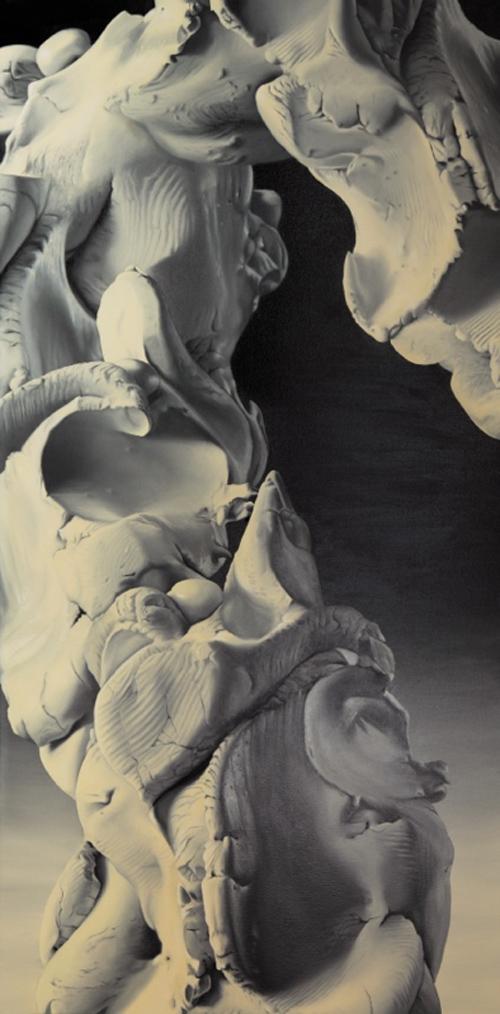 sans titre, 2012huile sur toile, 200 x 100 cm