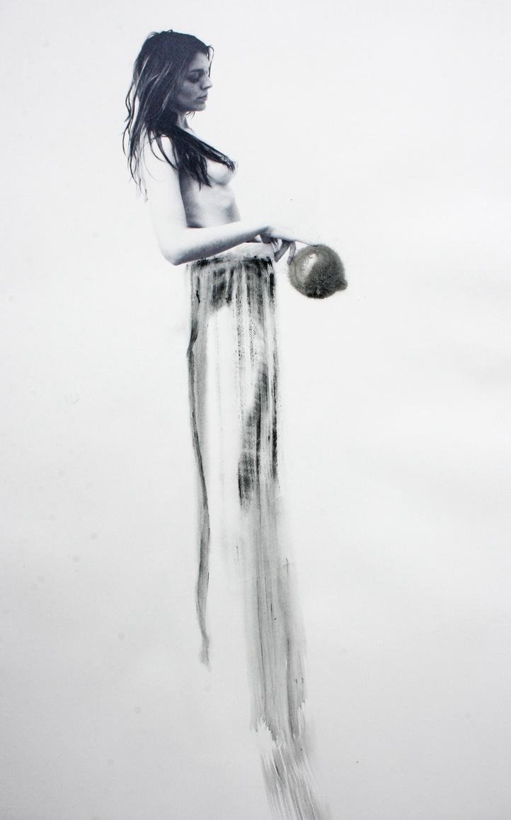 Histrionisme 8, technique mixte sur Velin d'Arches, 2012, 104X66cm