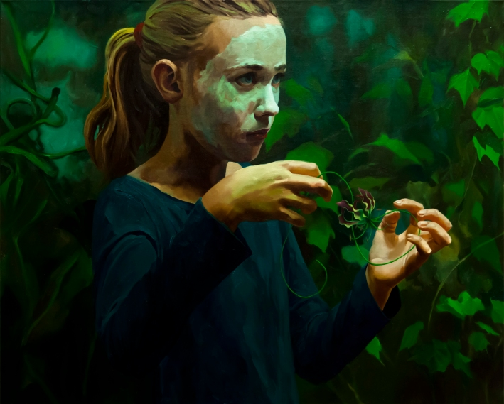Markus Akesson, Psychopomp Club (The lily), 65x81cm, oil on canvas, 2013