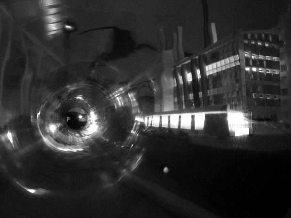 Bertrand Lamarche, Cyclo-City, installation et projection vidéo. Courtesy galerie Jérôme Poggi, Paris