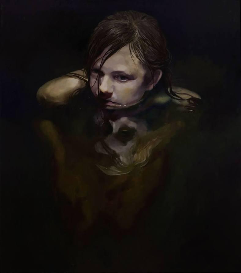 Black Pond, Oil on canvas, 170x150cm, 2013 courtesy de l'artiste et de la galerie Da-End