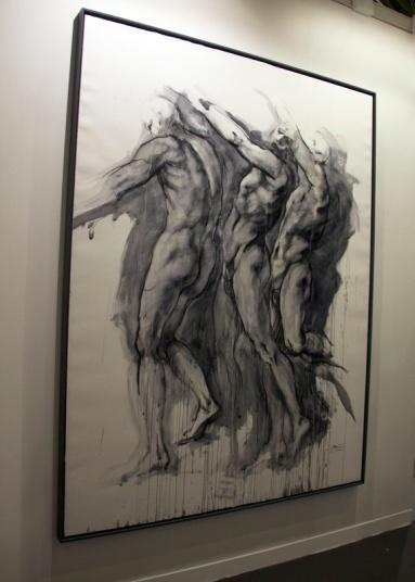 Ernest Pignon- Ernest- D'après Pontormo 2013, Galerie Lelong