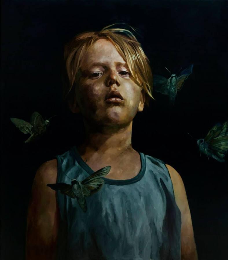 """The Woods (Insomnia), oil on canvas, 2013, 170x150cm """"Courtesy de l'artiste et de la Galerie Da-End""""."""