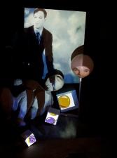 Tony Oursler Atias 2013- video projection mixes media- galerie Hans Meyer